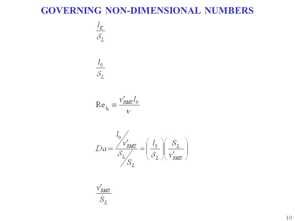 GOVERNING NON-DIMENSIONAL NUMBERS