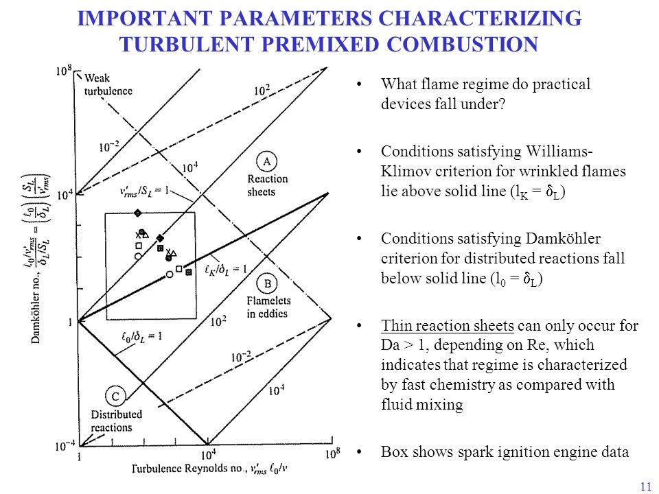 IMPORTANT PARAMETERS CHARACTERIZING TURBULENT PREMIXED COMBUSTION