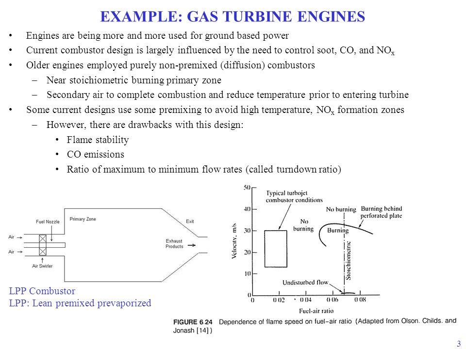 EXAMPLE: GAS TURBINE ENGINES