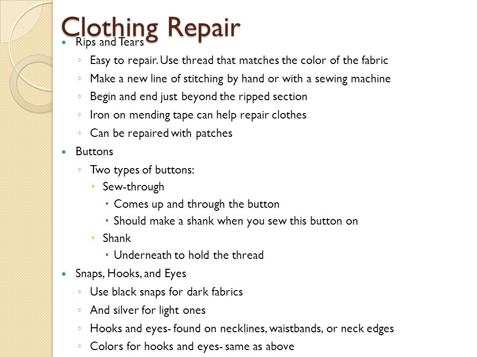 Clothing Repair Rips and Tears