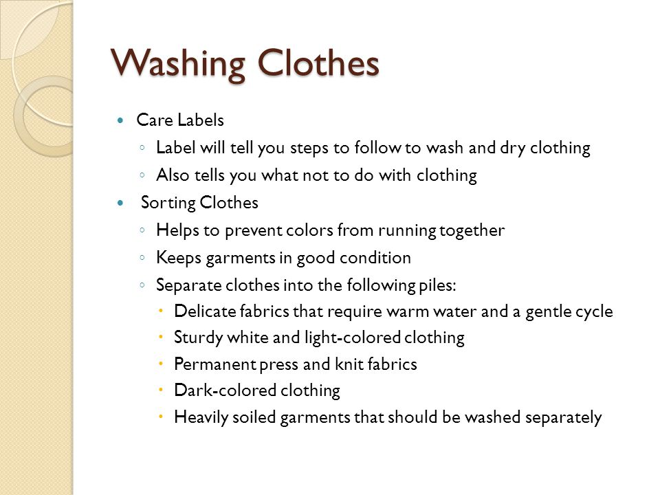 Washing Clothes Care Labels