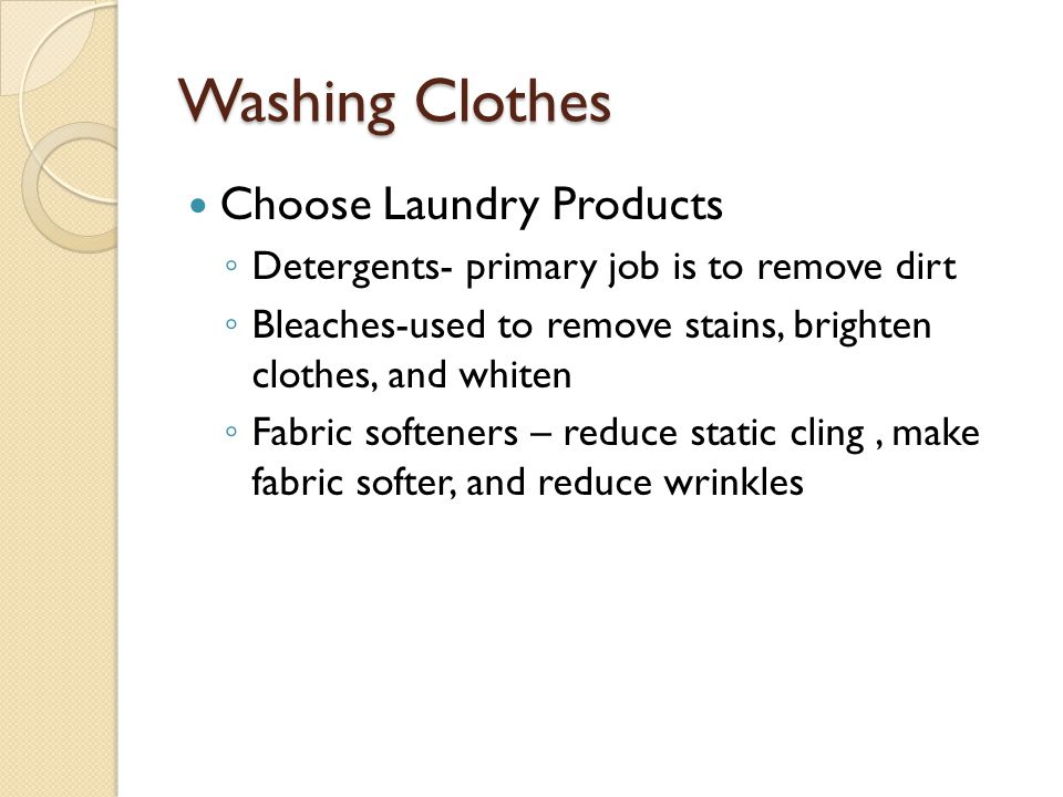 Washing Clothes Choose Laundry Products
