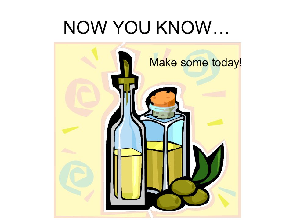 NOW YOU KNOW… Make some today!