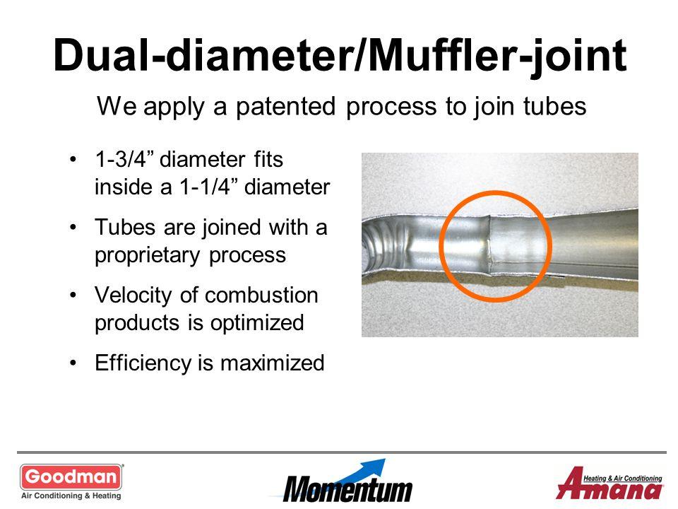 Dual-diameter/Muffler-joint