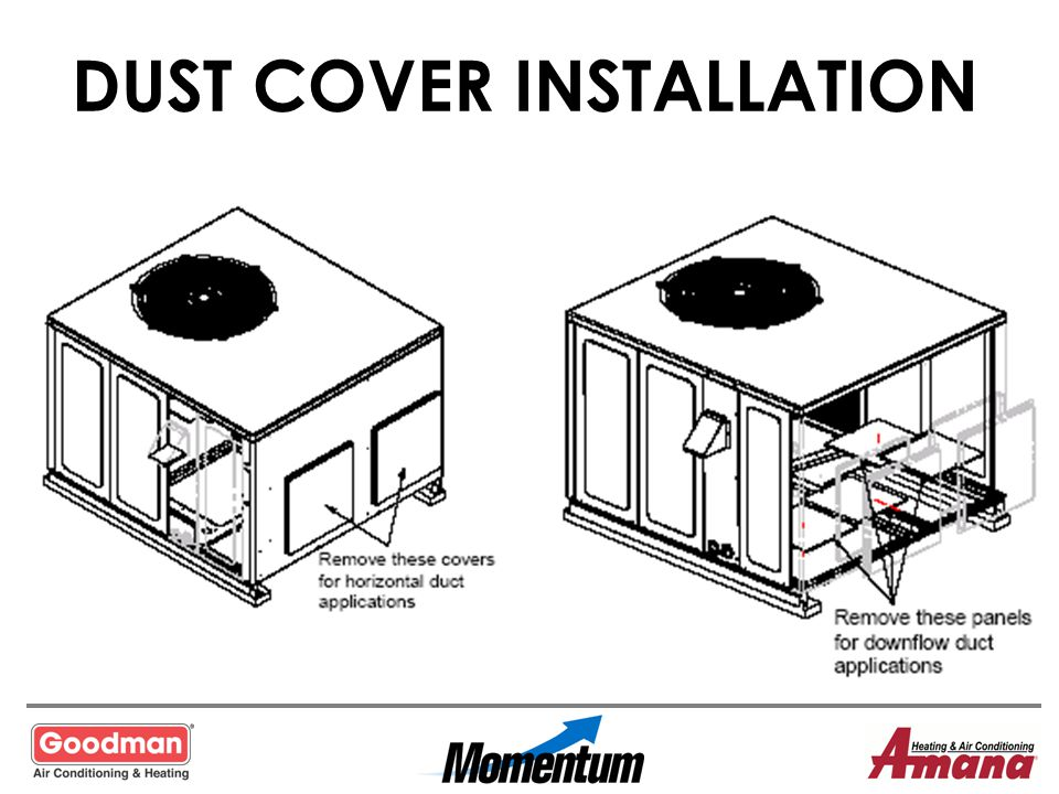 DUST COVER INSTALLATION