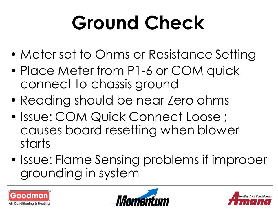 Ground Check Meter set to Ohms or Resistance Setting