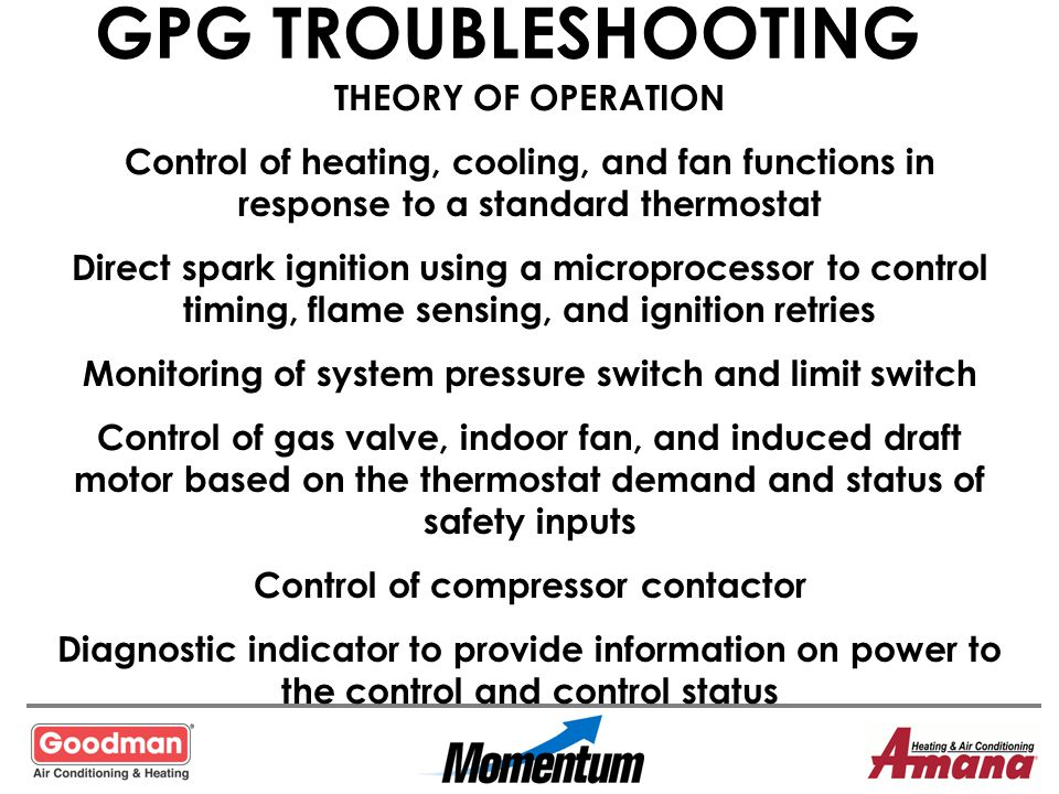 GPG TROUBLESHOOTING THEORY OF OPERATION