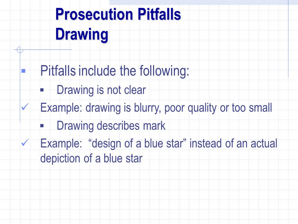 Prosecution Pitfalls Drawing