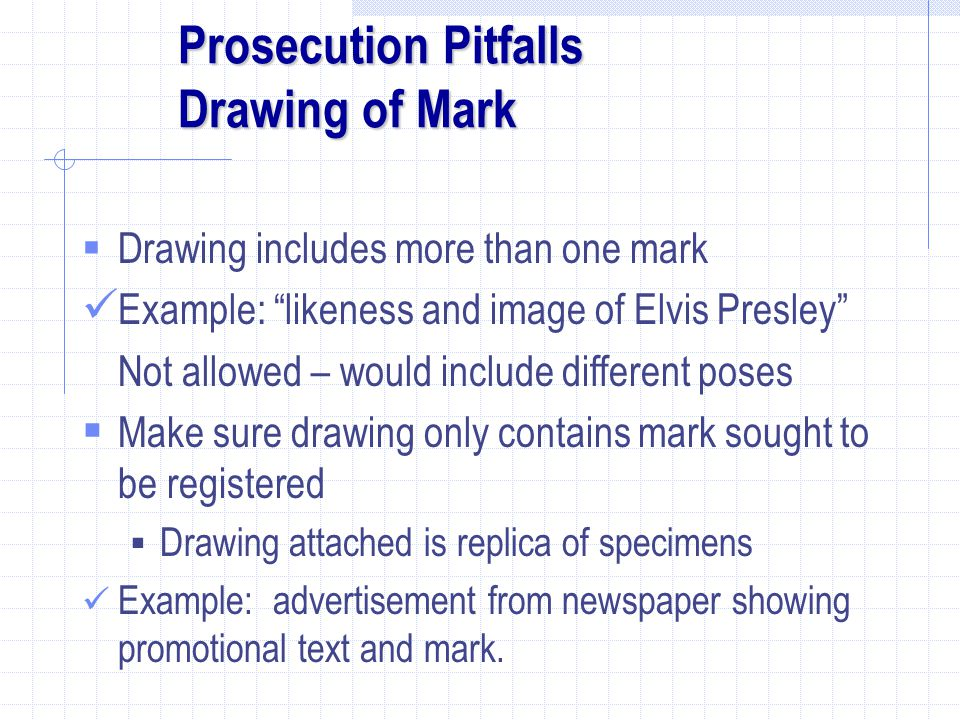 Prosecution Pitfalls Drawing of Mark