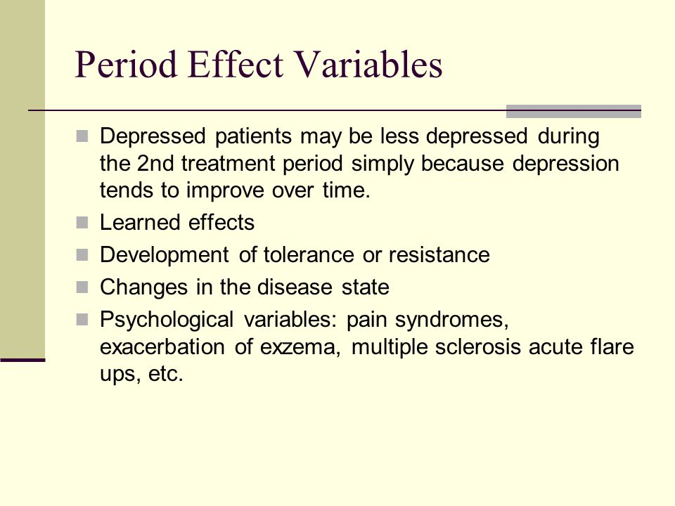 Period Effect Variables