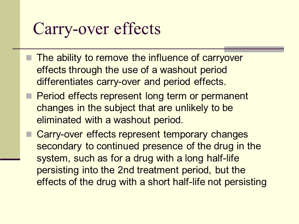 Carry-over effects