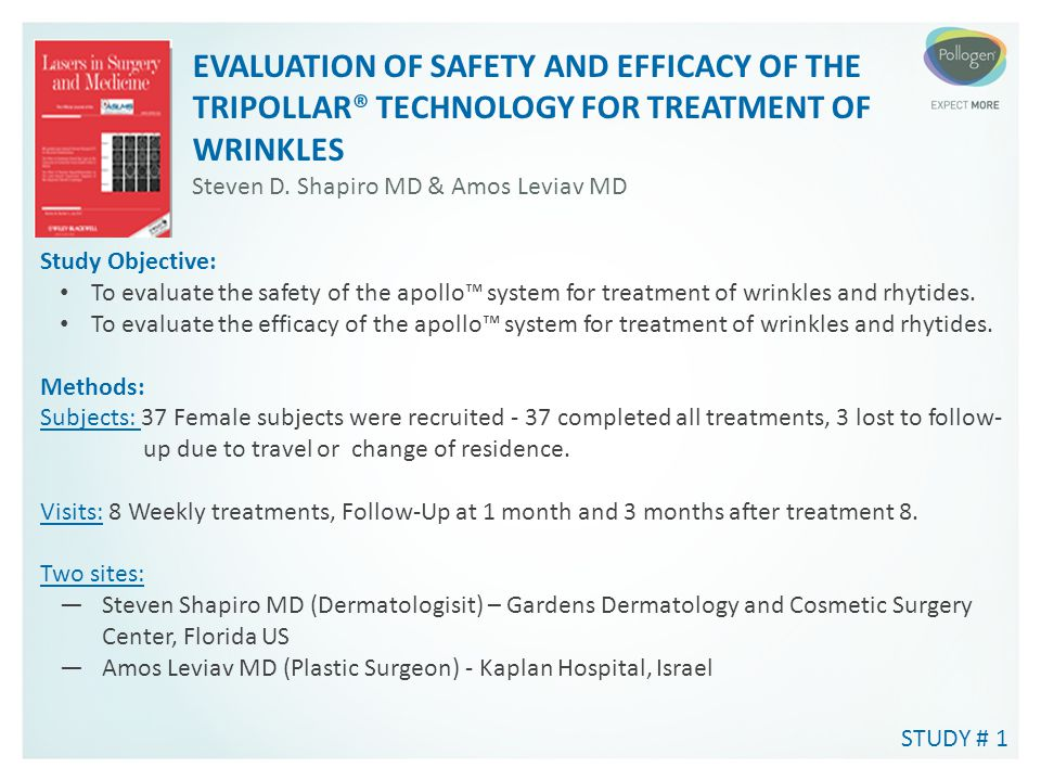 EVALUATION OF SAFETY AND EFFICACY OF THE TRIPOLLAR® TECHNOLOGY FOR TREATMENT OF WRINKLES