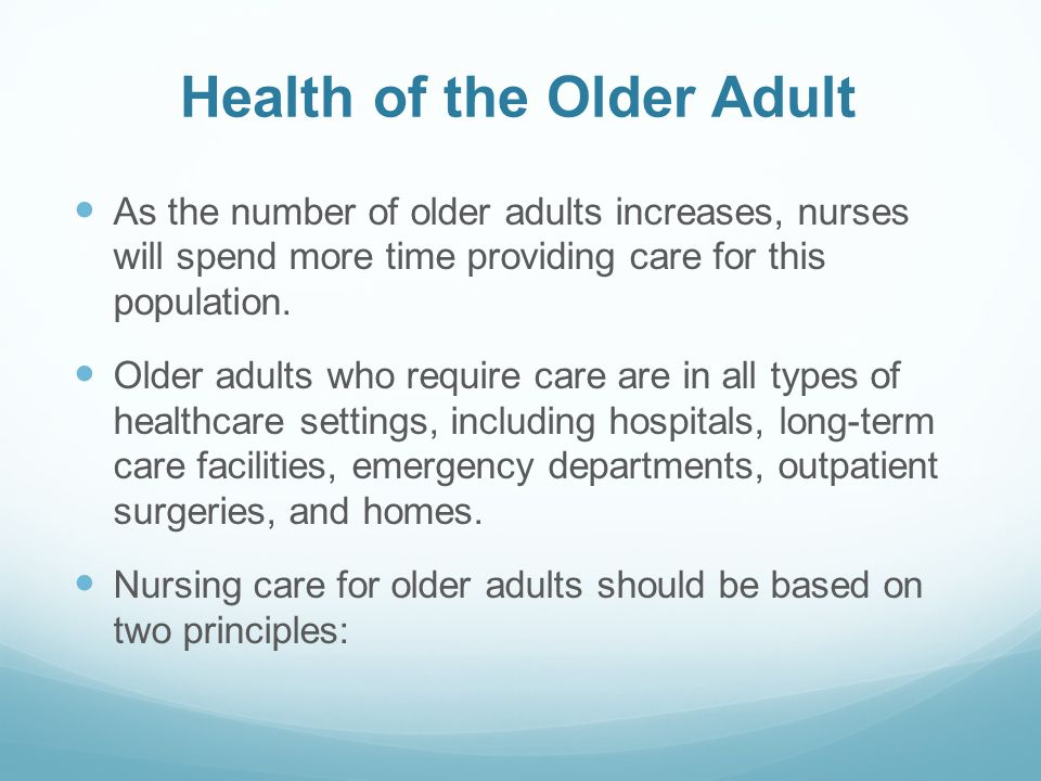 Health of the Older Adult