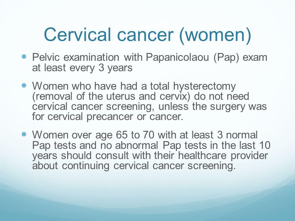Cervical cancer (women)