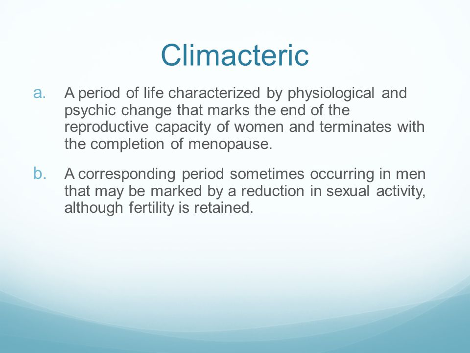 Climacteric
