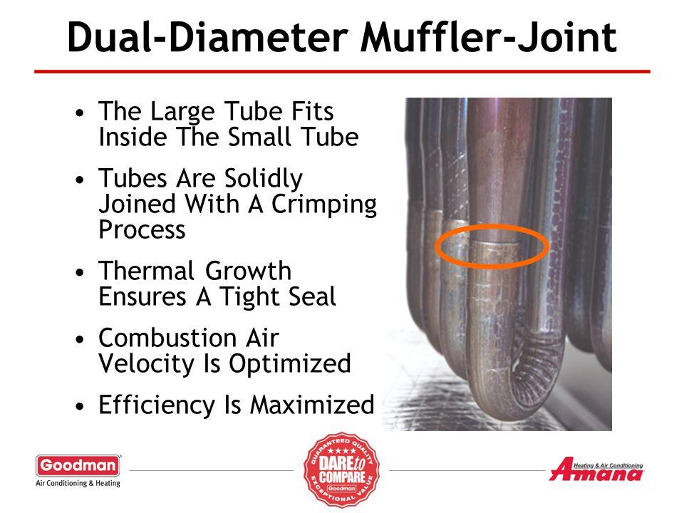 Dual-Diameter Muffler-Joint