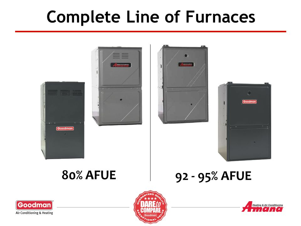 Complete Line of Furnaces