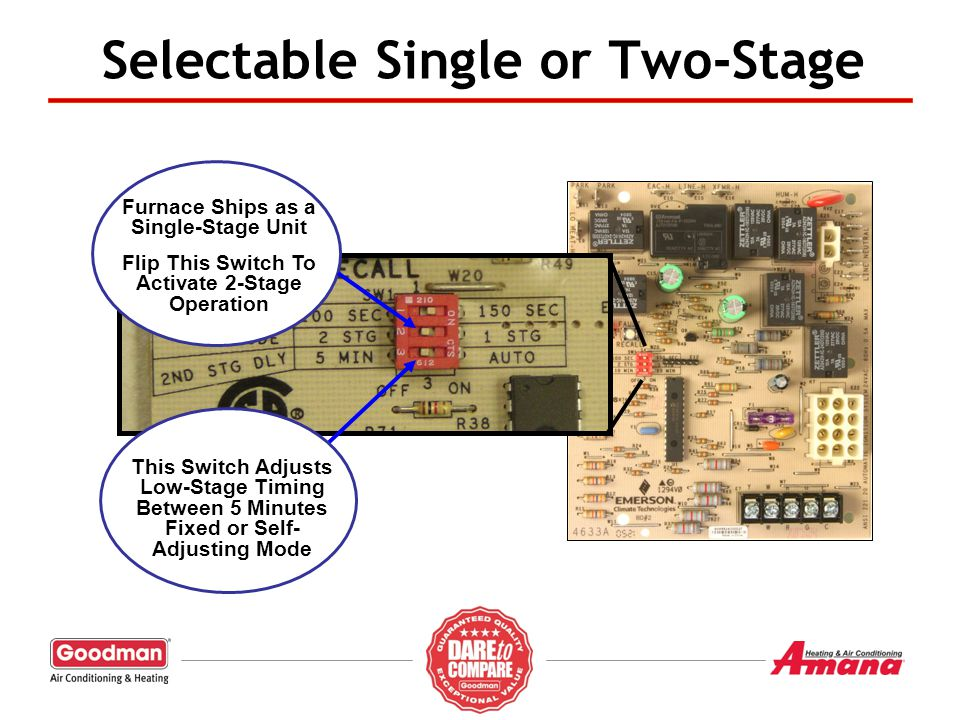 Selectable Single or Two-Stage