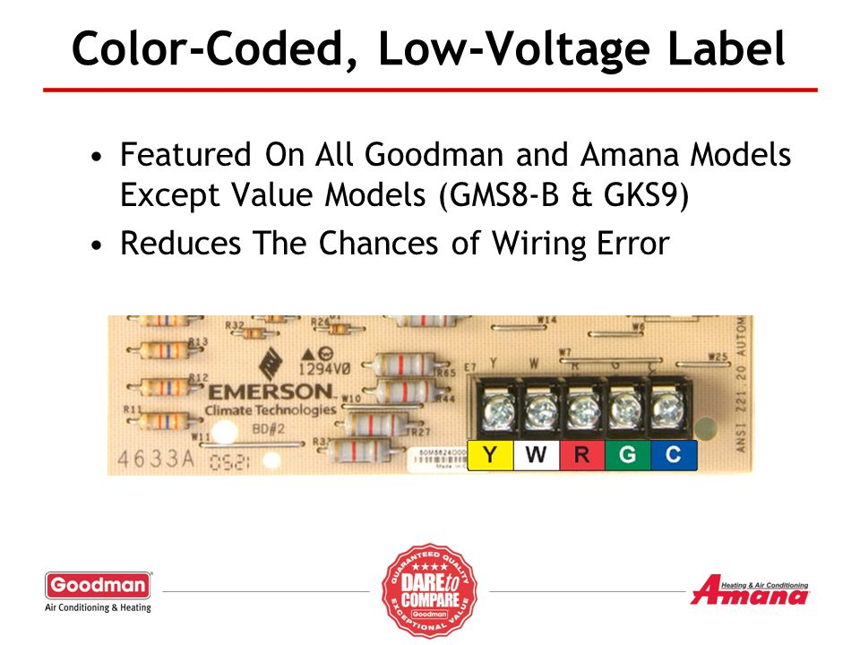 Color-Coded, Low-Voltage Label