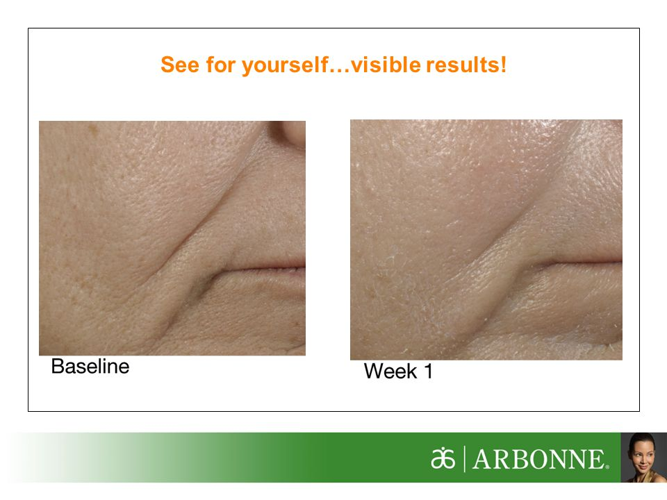 See for yourself…visible results!