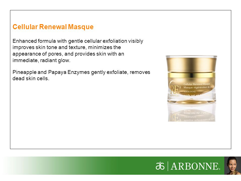 Cellular Renewal Masque
