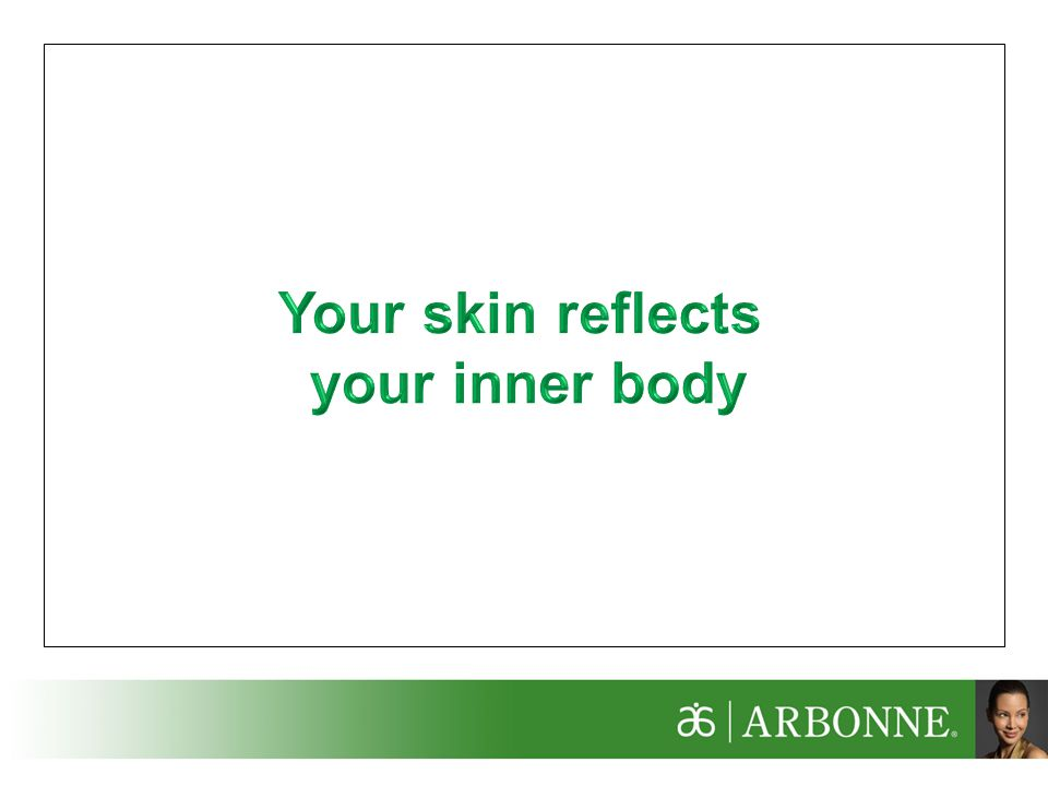 Your skin reflects your inner body