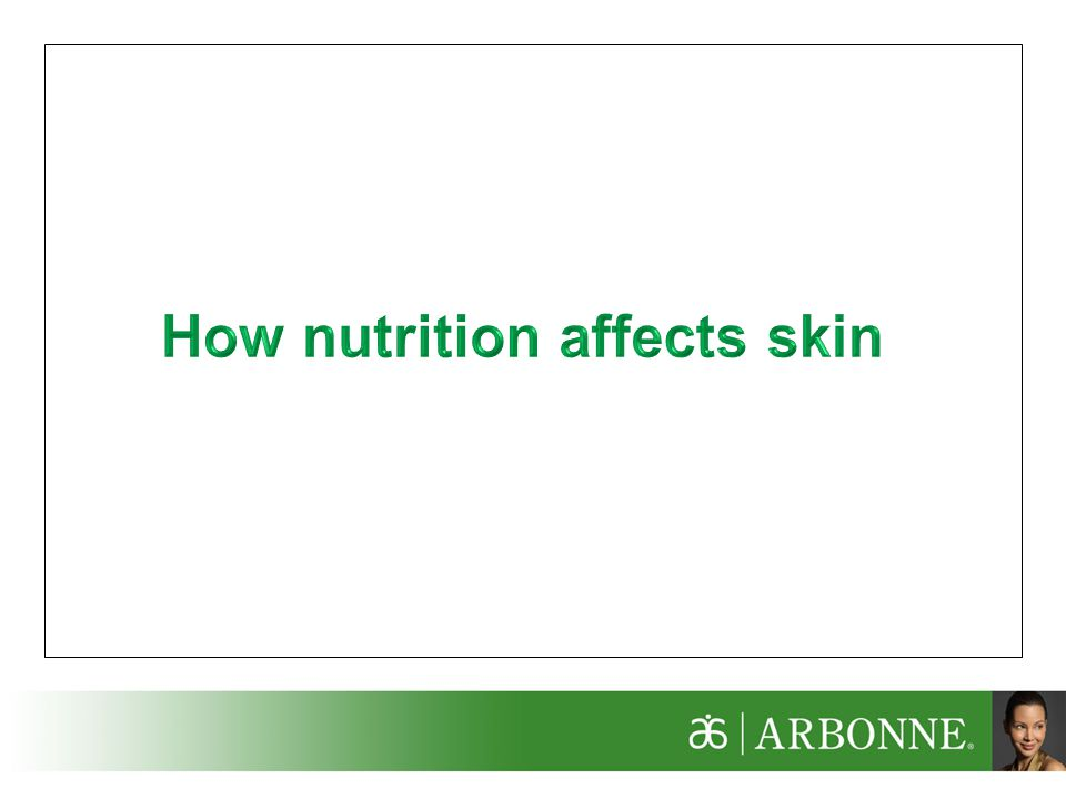 How nutrition affects skin