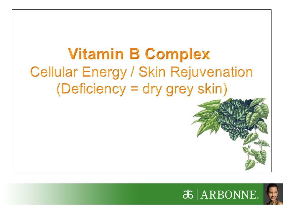 Vitamin B Complex Cellular Energy / Skin Rejuvenation