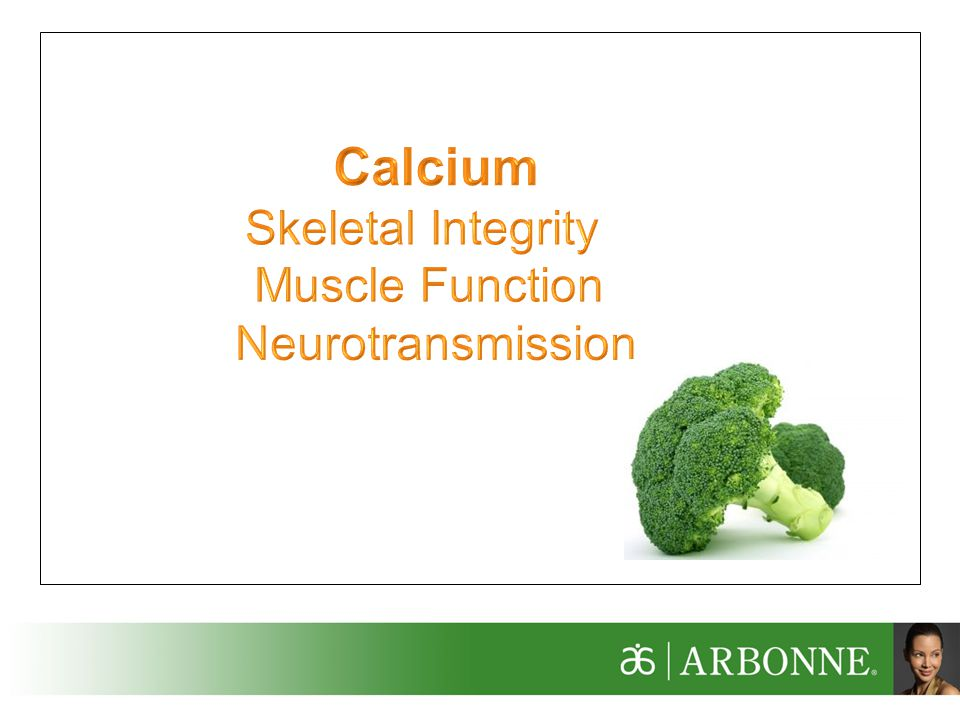 Calcium Skeletal Integrity Muscle Function Neurotransmission