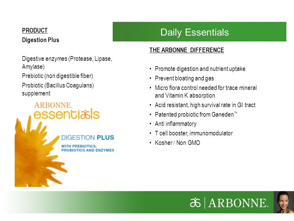 Daily Essentials PRODUCT Digestion Plus