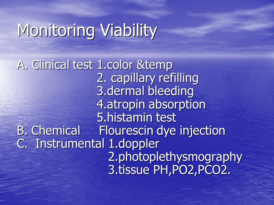 Monitoring Viability