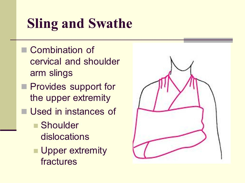 Sling and Swathe Combination of cervical and shoulder arm slings