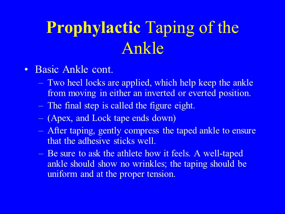 Prophylactic Taping of the Ankle