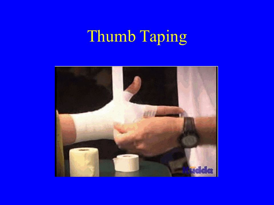 Thumb Taping