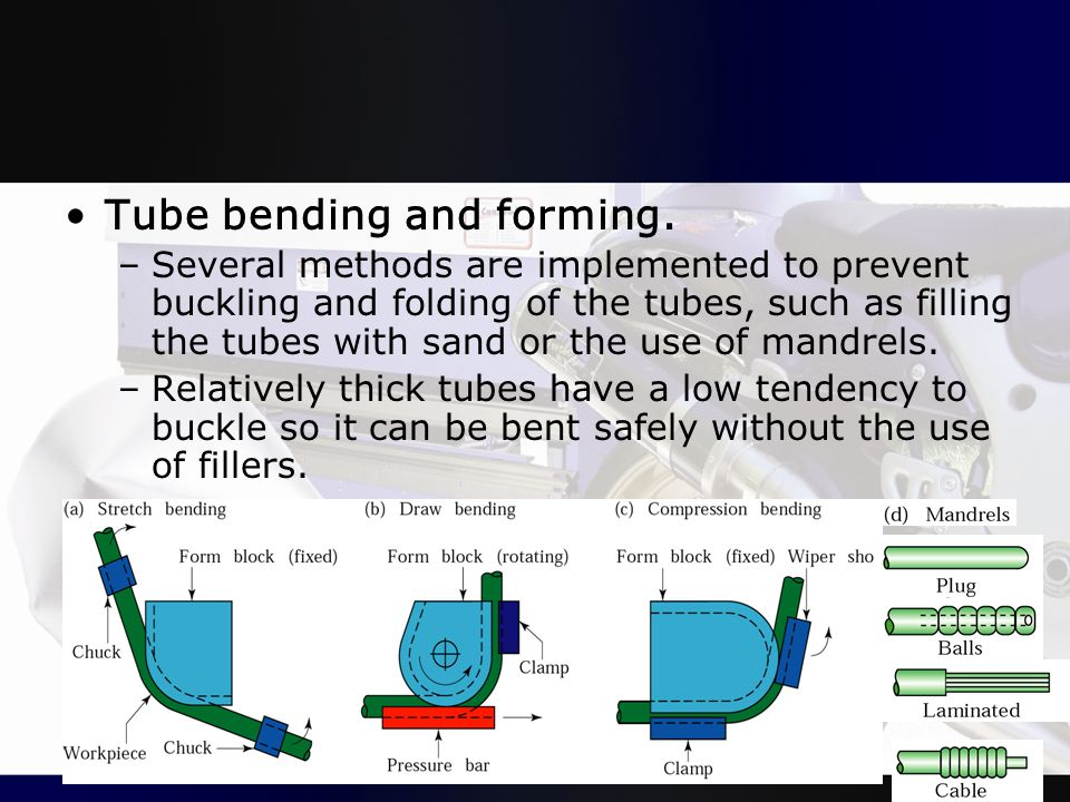 Tube bending and forming.