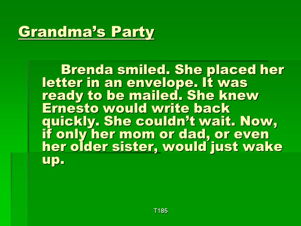 Grandma's Party