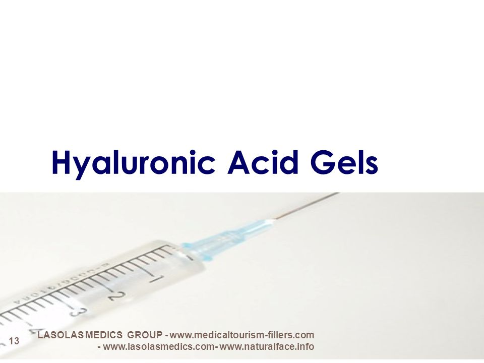 Hyaluronic Acid Gels LASOLAS MEDICS GROUP - www.medicaltourism-fillers.com - www.lasolasmedics.com- www.naturalface.info.