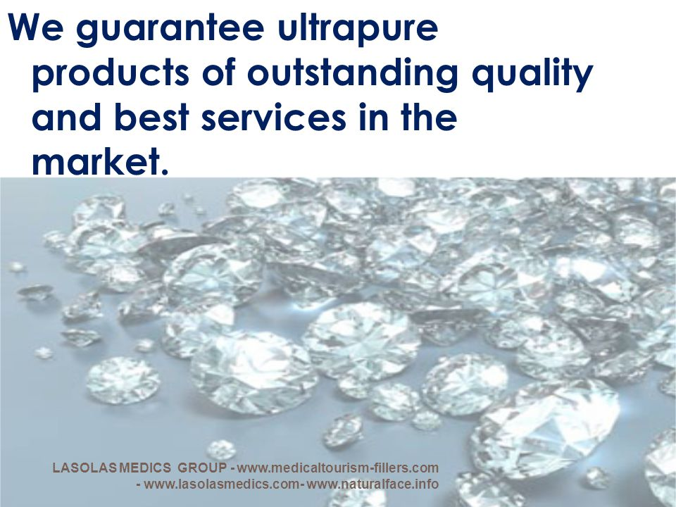 We guarantee ultrapure products of outstanding quality and best services in the market.