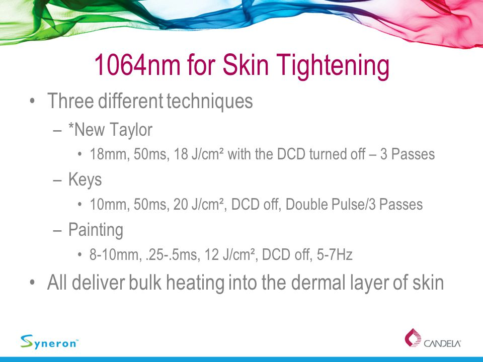 1064nm for Skin Tightening Three different techniques