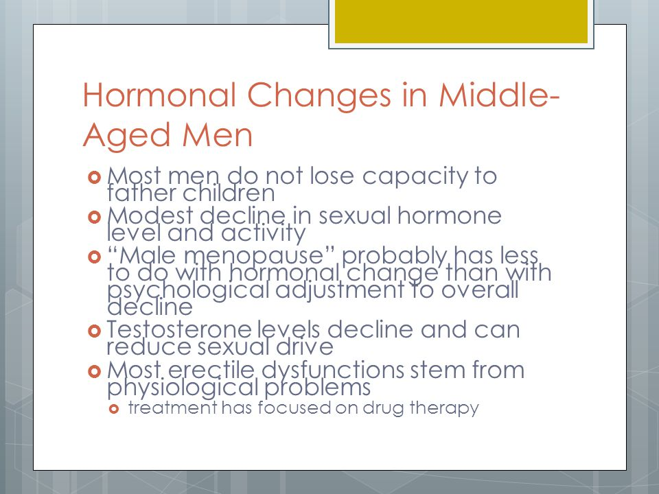 Hormonal Changes in Middle-Aged Men