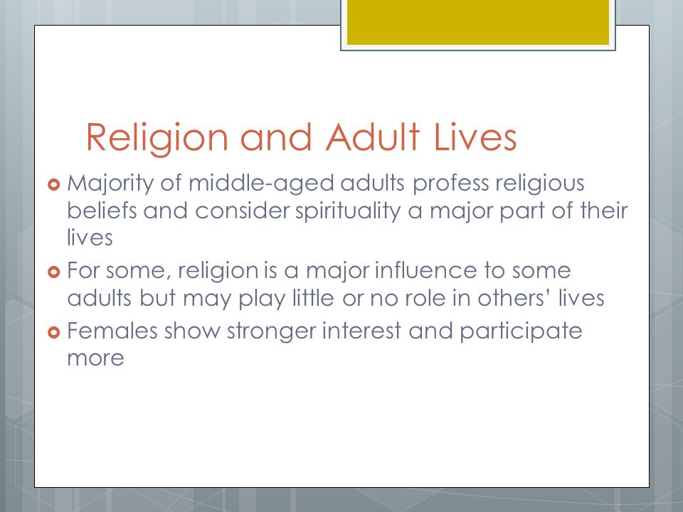 Religion and Adult Lives