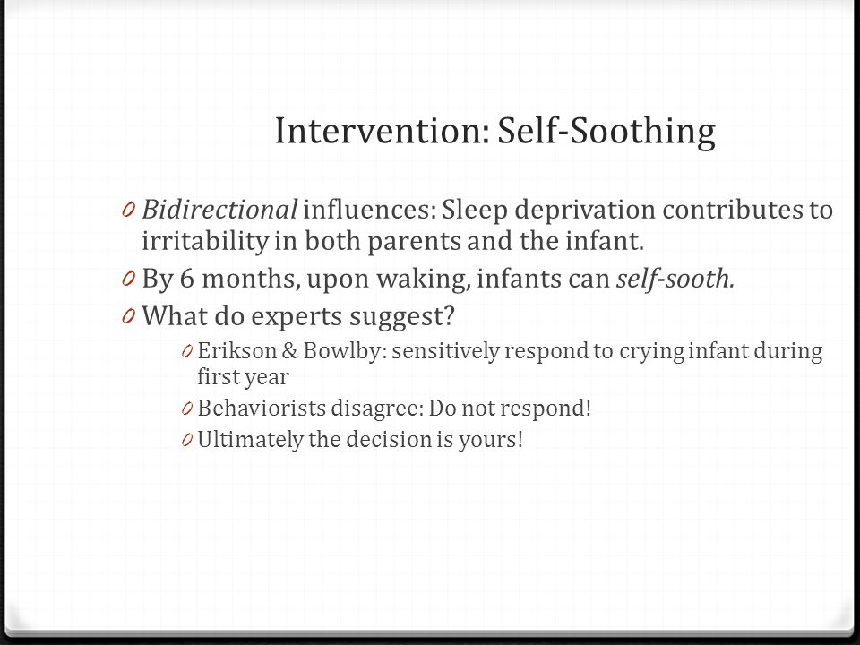 Intervention: Self-Soothing