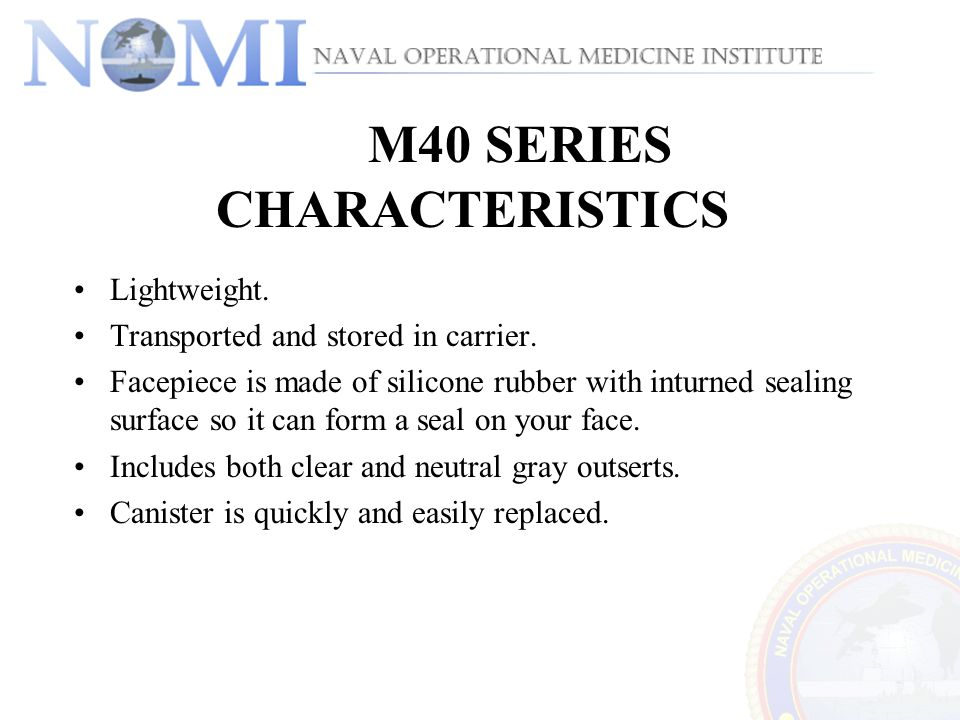 M40 SERIES CHARACTERISTICS