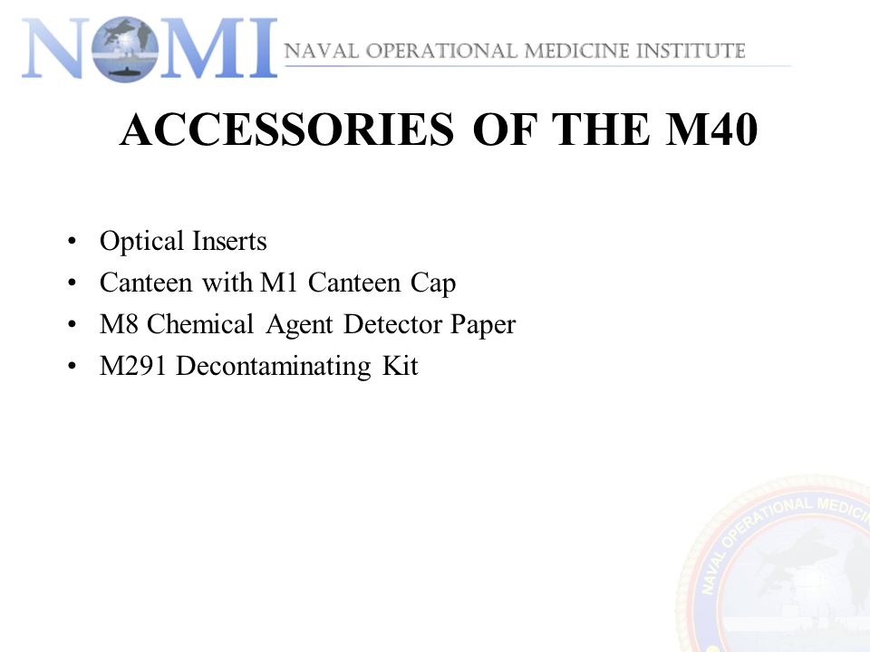 ACCESSORIES OF THE M40 Optical Inserts Canteen with M1 Canteen Cap