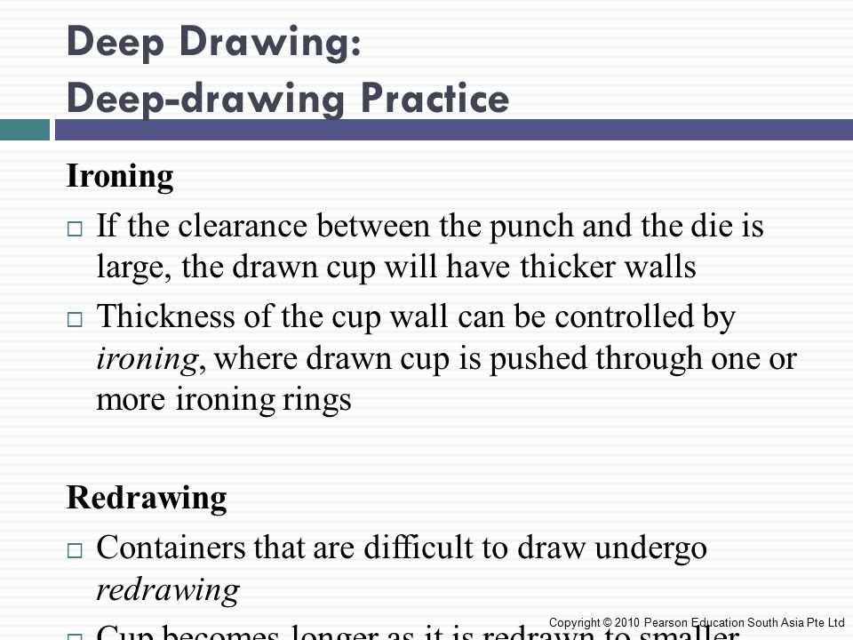 Deep Drawing: Deep-drawing Practice