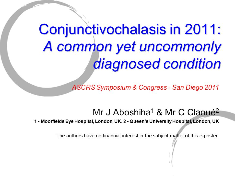 Conjunctivochalasis in 2011: A common yet uncommonly diagnosed condition
