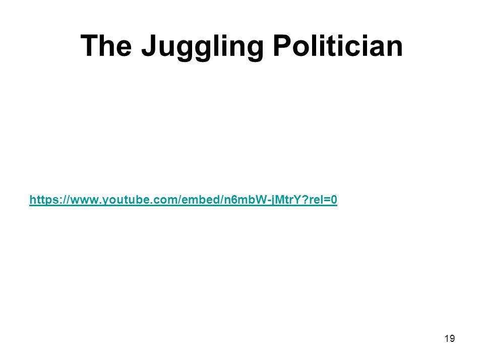 The Juggling Politician