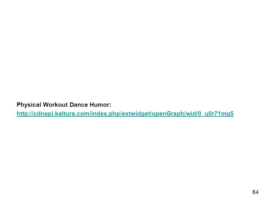 Physical Workout Dance Humor: http://cdnapi. kaltura. com/index