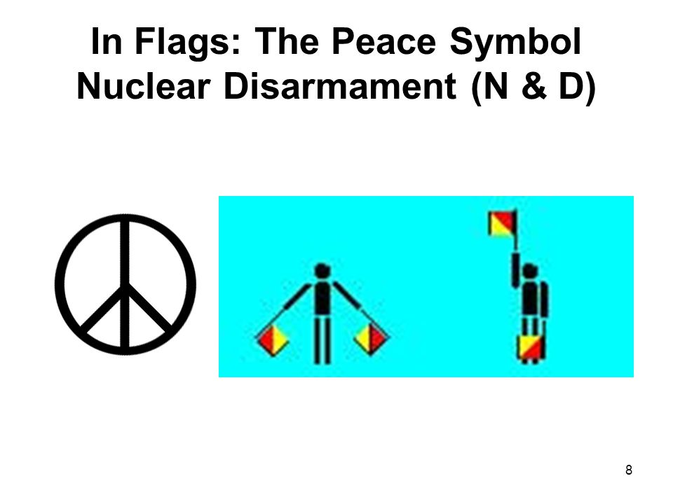 In Flags: The Peace Symbol Nuclear Disarmament (N & D)