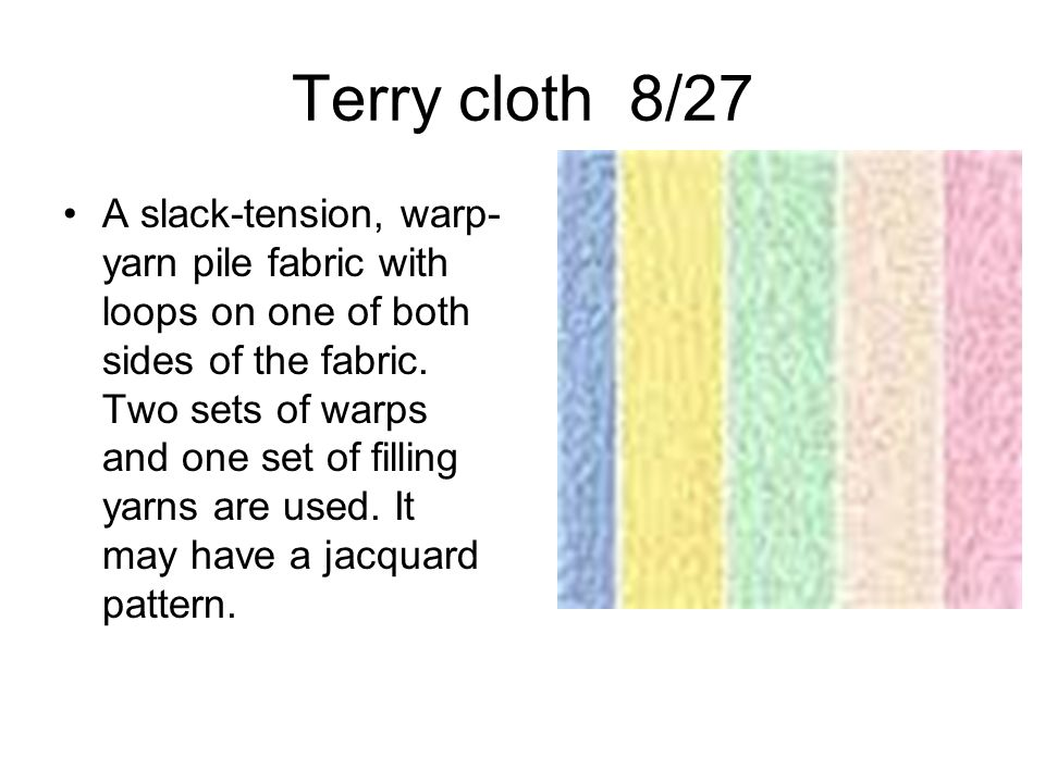 Terry cloth 8/27